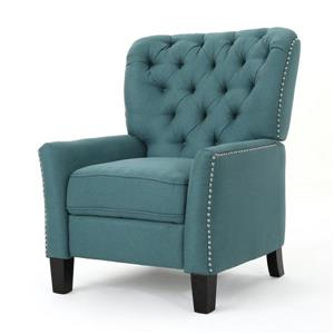 Fauteuil inclinable en tissu Jasmine de Best Selling Home Decor, turquoise