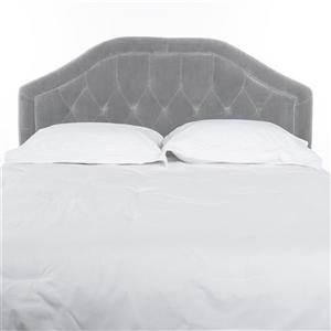 Best Selling Home Decor Felix Tufted Fabric Headboard - Queen - Light Gray