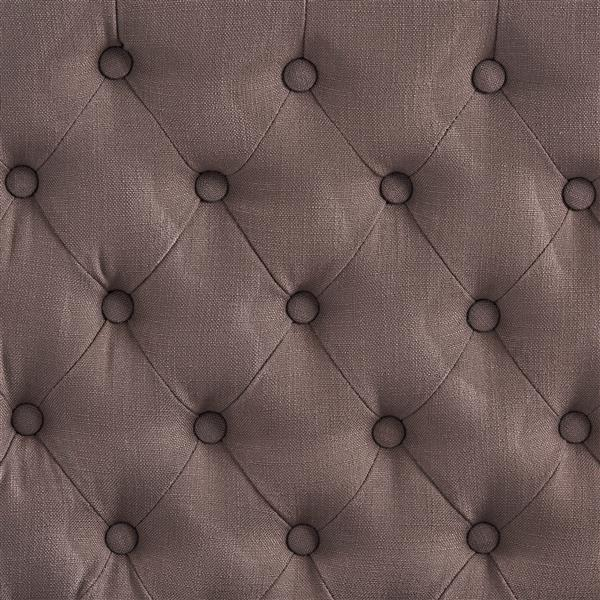 Best Selling Home Decor Rutherford Button Tufted Fabric Headboard - Queen - Brown