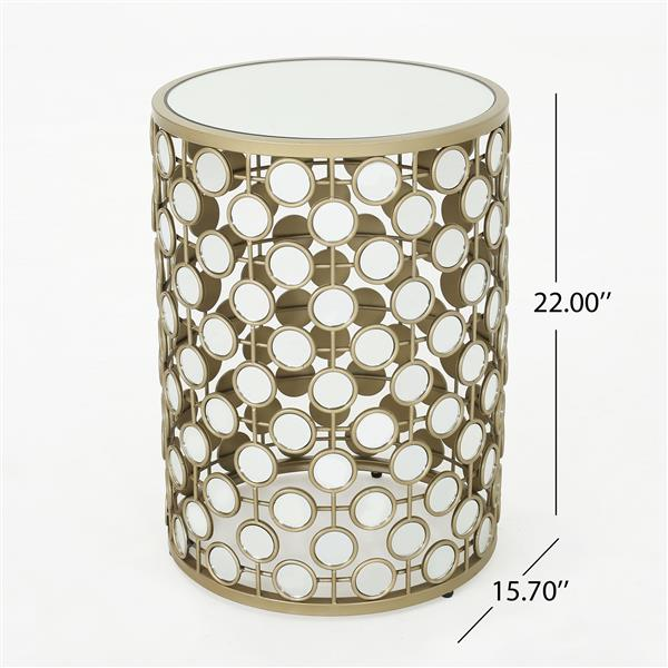 Best Selling Home Decor Echo Side Table - 15.7-in x 22-in - Clear