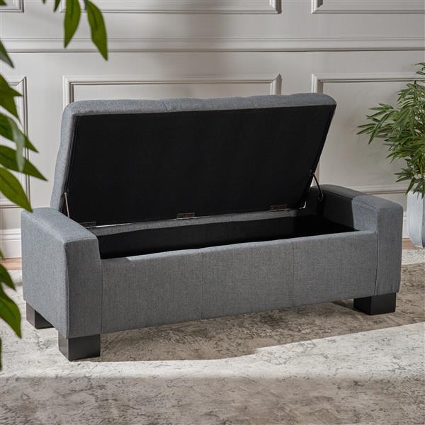Best Selling Home Decor Joyce Fabric Storage Ottoman - Gray