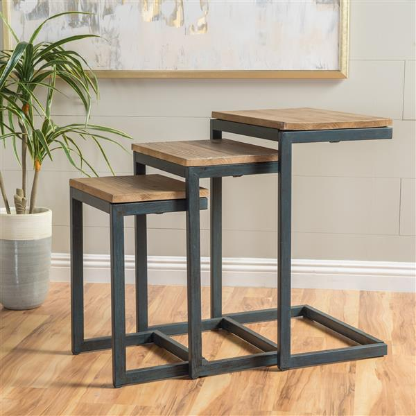 Best Selling Home Decor Darlah Antique Nesting Tables - Set of 3 - Pine Wood