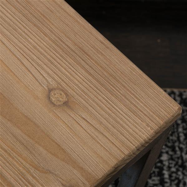 Ensemble de table gigogne antique Darlah de Best Selling Home Decor, ens. de 3, pin