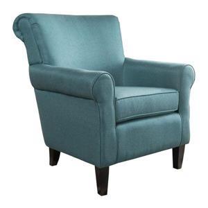 Fauteuil d'appoint en tissu Roseville de Best Selling Home Decor, turquoise