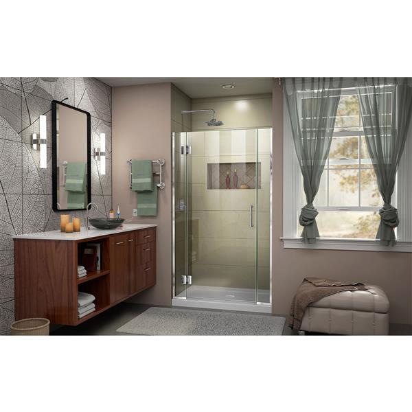 DreamLine Unidoor-X Shower Door - 39.5-in x 72-in - Chrome