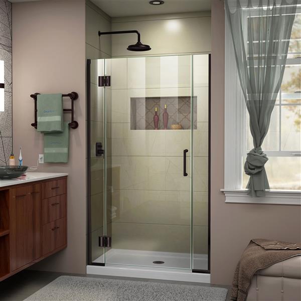 DreamLine Unidoor-X Shower Door - 42.5-in x 72-in - Oil Rubbed Bronze