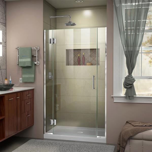 DreamLine Unidoor-X Shower Door - 36.5-in x 72-in - Chrome
