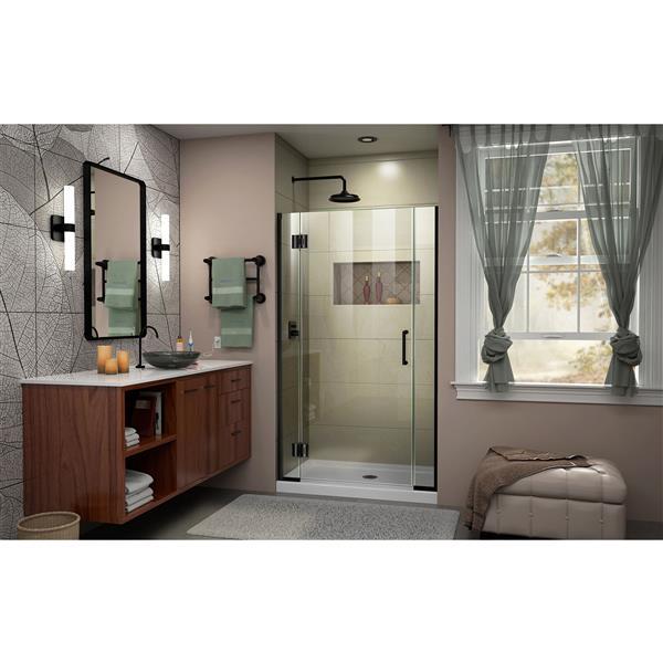 DreamLine Unidoor-X Shower Door - 37.5-in x 72-in - Satin Black