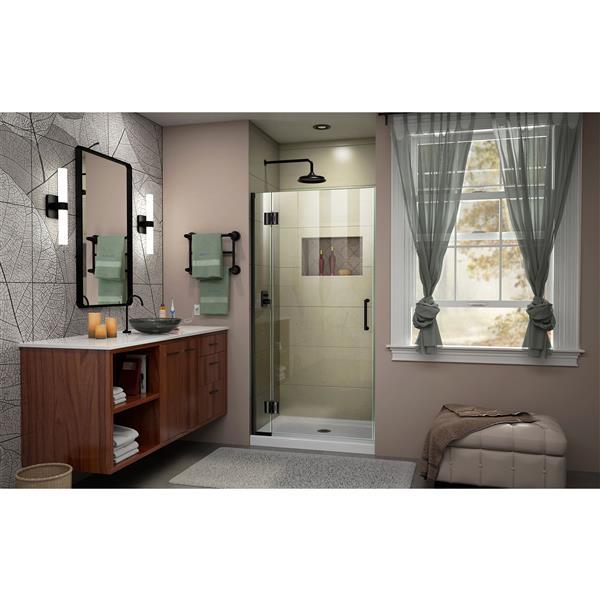 DreamLine Unidoor-X Shower Door - 32-in x 72-in - Satin Black