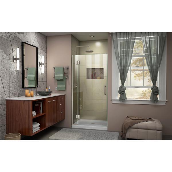 DreamLine Unidoor-X Shower Door - 30-in x 72-in - Brushed Nickel