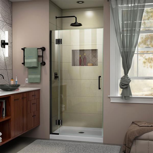 DreamLine Unidoor-X Shower Door - 33-in x 72-in - Satin Black