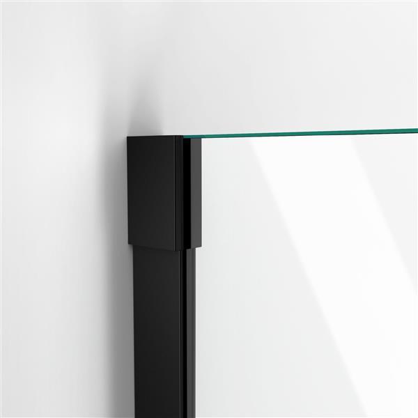 DreamLine Unidoor-X Shower Door - 36-in x 72-in - Satin Black