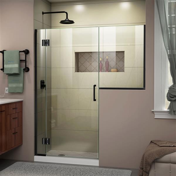 DreamLine Unidoor-X Shower Door - 67.5-in x 72-in - Satin Black