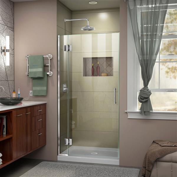 DreamLine Unidoor-X Shower Door - 29-in x 72-in - Chrome