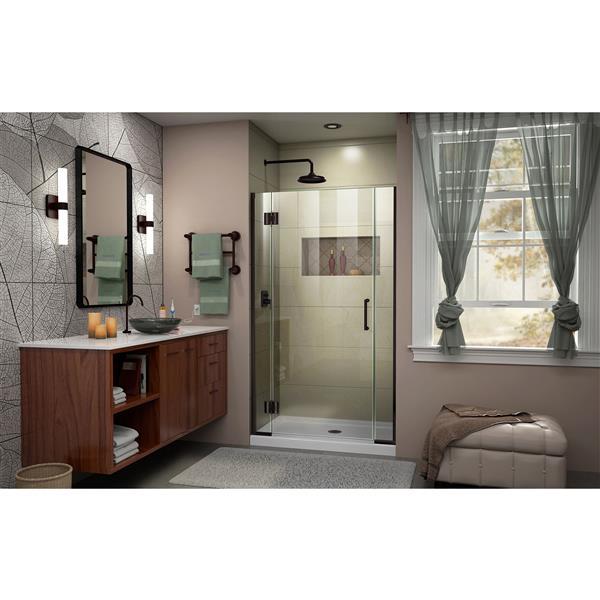 DreamLine Unidoor-X Shower Door - 41.5-in x 72-in - Oil Rubbed Bronze