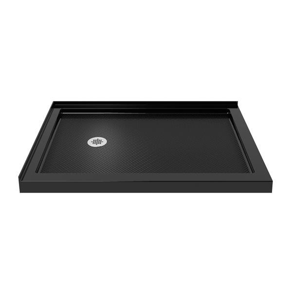 Base de douche rectangulaire SlimLine de DreamLine, 36 po x 48 po, noir