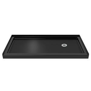 Base de douche en alcôve SlimLine de DreamLine, acrylique, 32 po x 60 po, noir