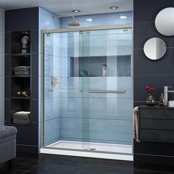 DreamLine Encore Alcove Shower Kit - 32-in x 60-in- Center Drain