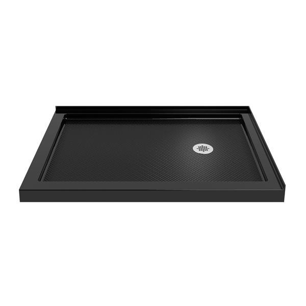 DreamLine SlimLine Rectangle Corner Shower Base - 34-in x 48-in - Black