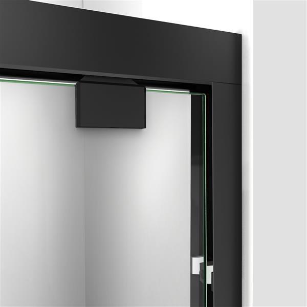 DreamLine Encore Alcove Shower Kit - 36-in - Center Drain - Black