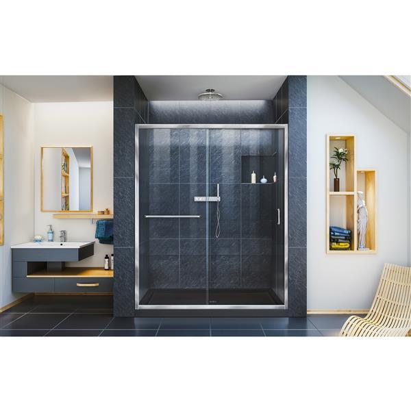 DreamLine Infinity-Z Alcove Shower Kit - 36-in x 60-in - Center Drain