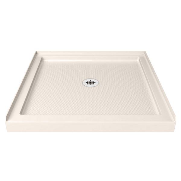 DreamLine SlimLine Alcove Shower Base - Acrylic - 42-in x 42-in- Off-white