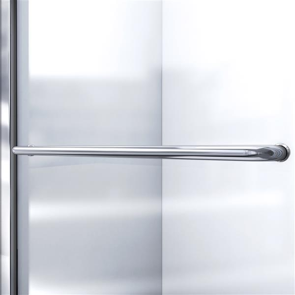 DreamLine Infinity-Z Alcove Shower Kit - 36-in - Right Drain - Nickel