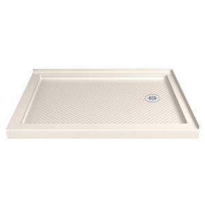 DreamLine SlimLine Corner Shower Base - 36-in x 60-in - Off-white