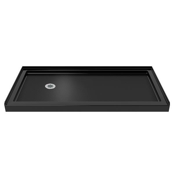 DreamLine SlimLine Alcove Shower Base - 36-in x 60-in - Black