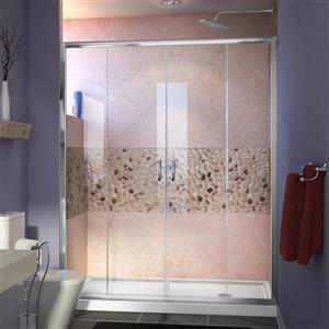 DreamLine Visions Alcove Shower Kit - 32-in - Right Drain - Chrome