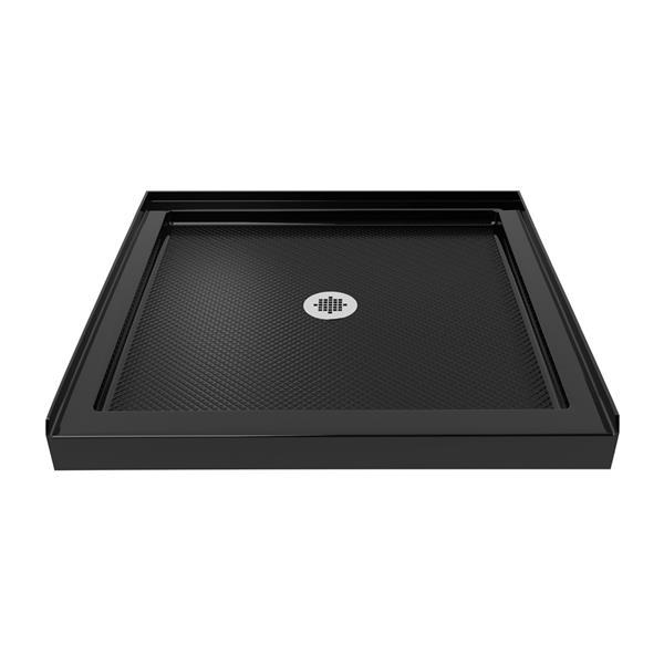 Base de douche en alcôve SlimLine de DreamLine, acrylique, 42 po x 42 po, noir