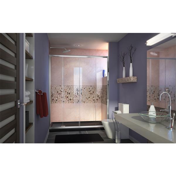 DreamLine Visions Alcove Shower Kit - 36-in x 60-in - Left Drain Base