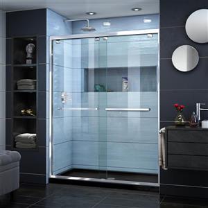 Ensemble de douche en alcôve Encore de DreamLine, panneaux en verre, 30 po x 60 po, chrome