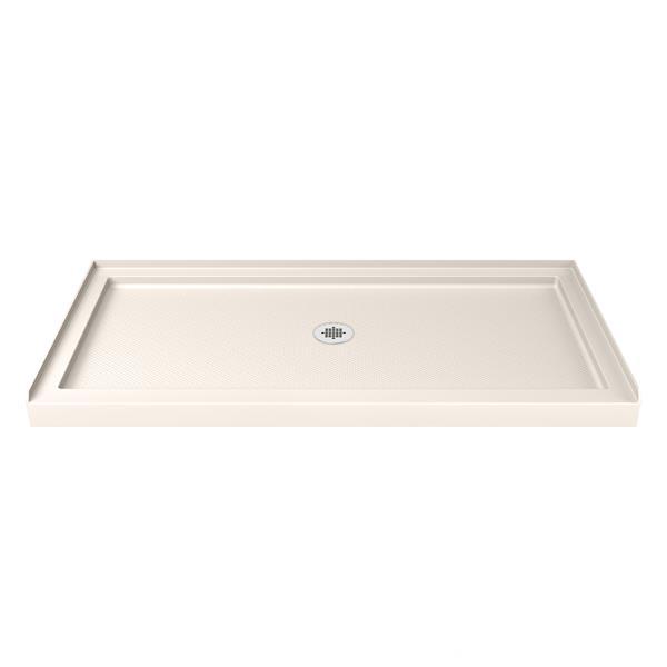 DreamLine SlimLine Alcove Shower Base - Acrylic - 30-in x 60-in- Off-white