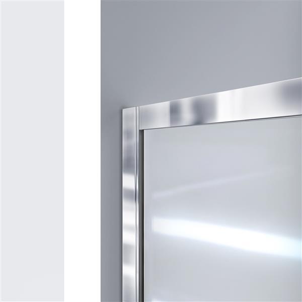 DreamLine Infinity-Z Alcove Shower Kit - 34-in x 60-in - Acrylic Base - Nickel