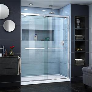 Ensemble de douche Encore de DreamLine, 36 po x 60 po, chrome