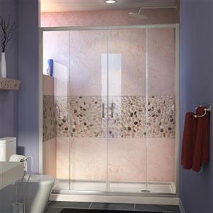 DreamLine Visions Alcove Shower Kit - 34-in x 60-in - Right Drain - Nickel