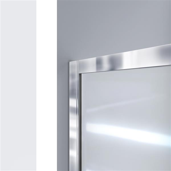 DreamLine Infinity-Z Alcove Shower Kit - 32-in- Left Drain Base - Chrome