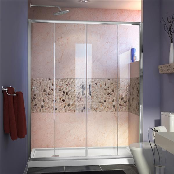 DreamLine Visions Alcove Shower Kit - 32-in x 60-in - Chrome Hardware