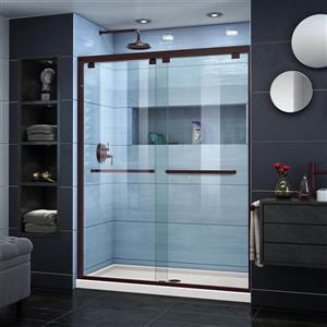 Ensemble de douche en verre Encore de DreamLine, 34 po x 60 po, bronze huilé