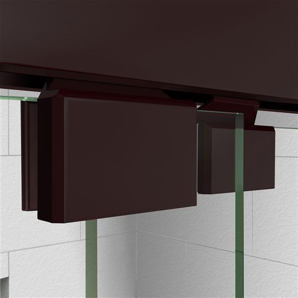 DreamLine Encore Alcove Shower Kit - 36-in - Center Drain - Dark Bronze