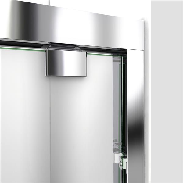 DreamLine Alcove Shower Kit - 32-in x 60-in - Right Drain - Chrome