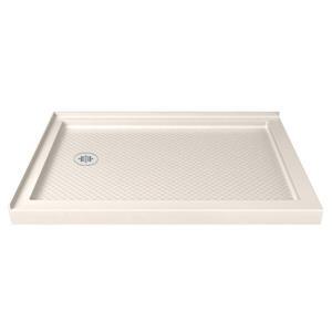 DreamLine SlimLine Rectangle Corner Shower Base - 36-in x 60-in- Off-white