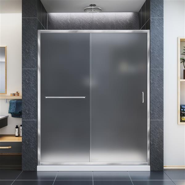 DreamLine Infinity-Z Alcove Shower Kit - 32-in x 60-in - Acrylic - Chrome