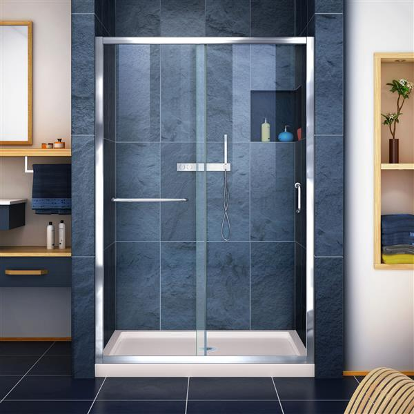 DreamLine Infinity-Z Alcove Shower Kit - 36-in - Chrome