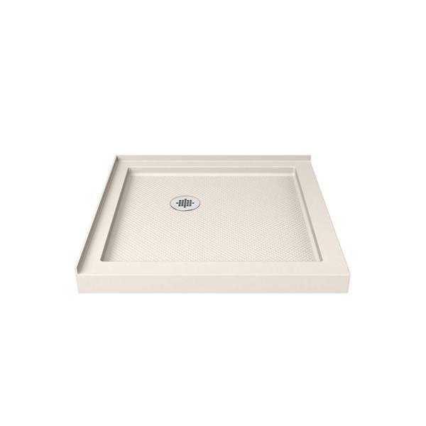 DreamLine SlimLine Square Corner Shower Base - 42-in x 42-in - Off-white