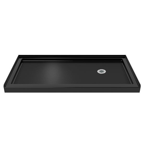 DreamLine SlimLine Alcove Shower Base - 34-in x 60-in - Black
