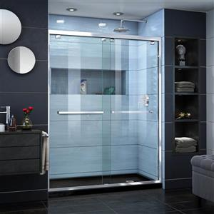 Ensemble de douche Encore de DreamLine, porte en verre, 32 pox 60 po, chrome