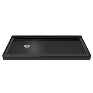 Base de douche en alcôve SlimLine de DreamLine, acrylique, 34 po x 60 po, noir