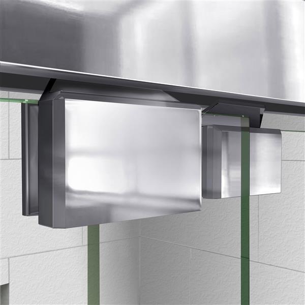 DreamLine Encore Alcove Shower Kit - 36-in x 60-in - Glass Door - Chrome